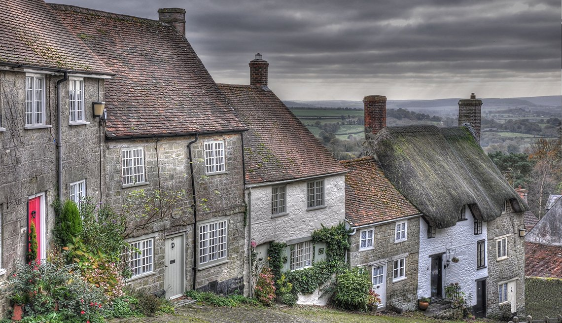 England, Gold Hill, Cottages, Andrew Roper