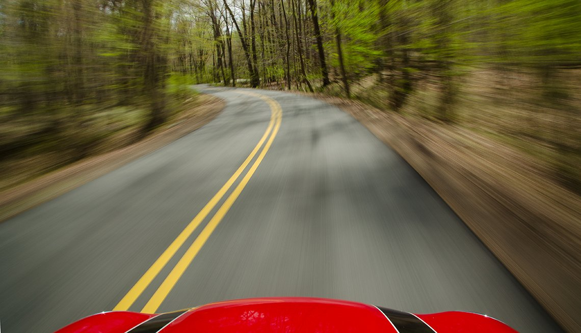 Open Road, red car, David Blass, calendar contest
