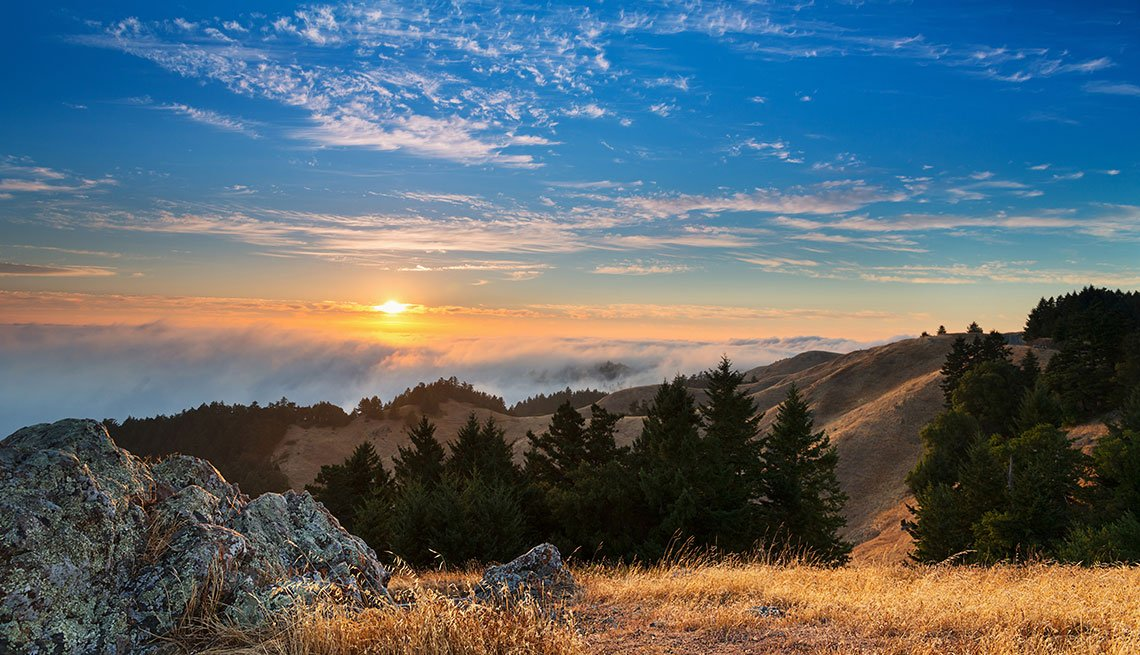 Sunset over Marin County, California, Clouds, Mountains, AARP Foundation Experience Corps Cities