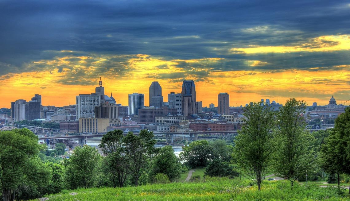 Minneapolis, Minn., Colorful Skies,  AARP Foundation Experience Corps Cities