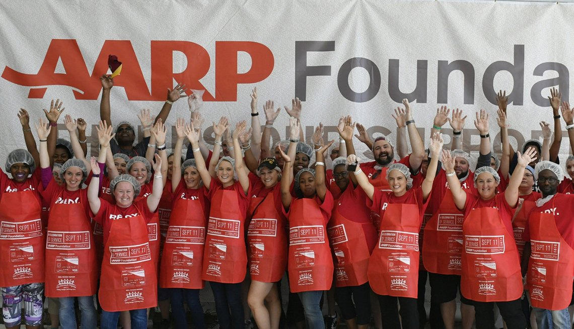 Volunteers, mealpack, AARP Foundation, Get Involved