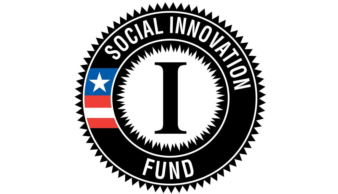 Social Innovation Fund logo, AARP Foundation, Corporation for National and Community Service (CNCS), Americorps