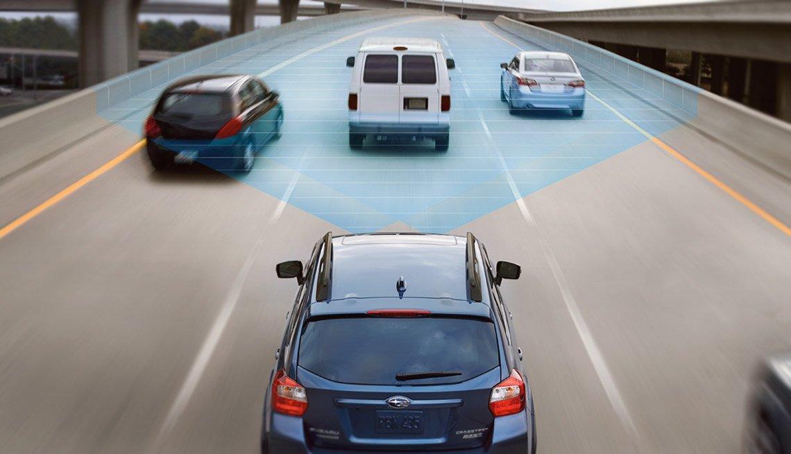 Subaru Crosstrek with Optional EyeSight Automatic Braking Systems