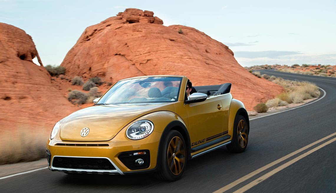 Volkswagen Beetle, convertible, Great Road Trip Rental Cars