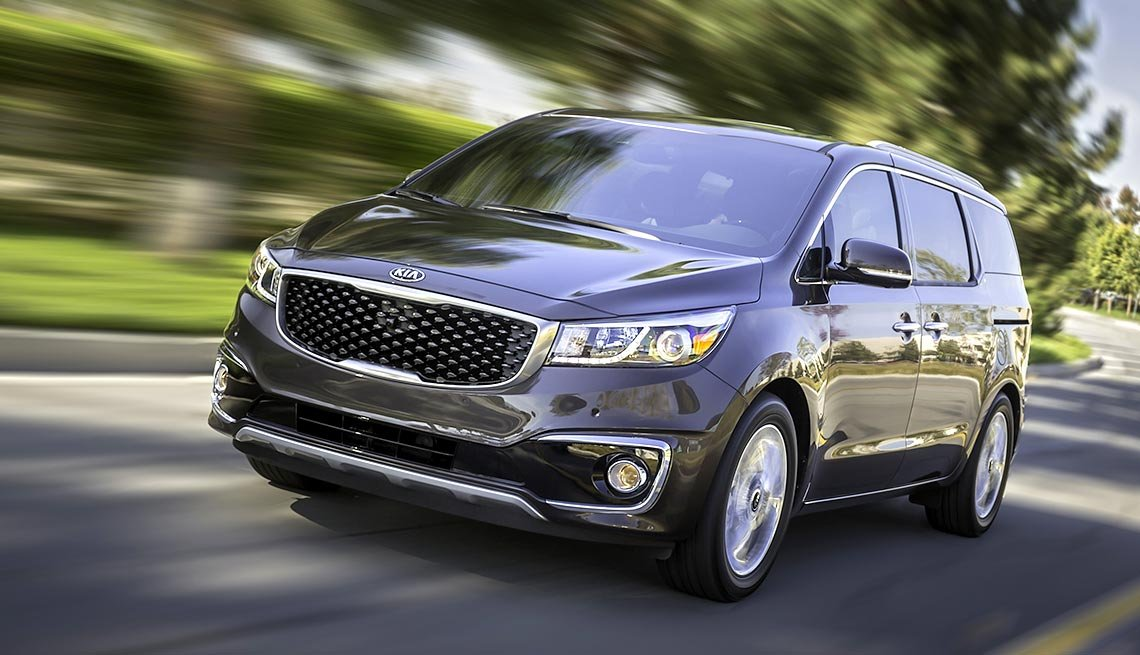 Kia Sedona, minivan, Great Road Trip Rental Cars