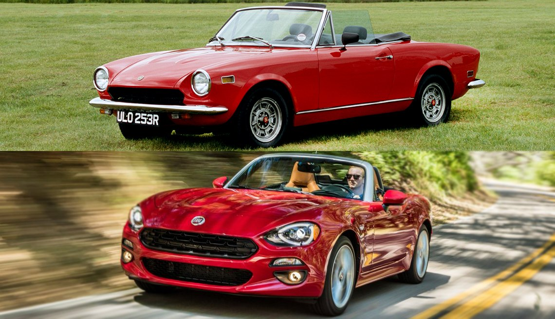 Classic Cars Then and Now - Fiat 124 Spider
