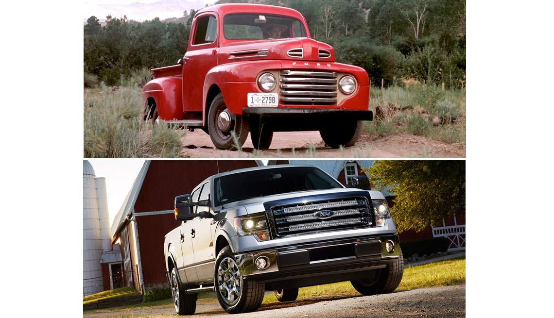 Classic Cars Then and Now - Ford F-Series