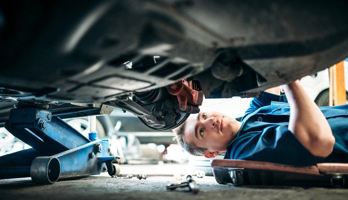 mechanic, working, on, car, cars, maintenance