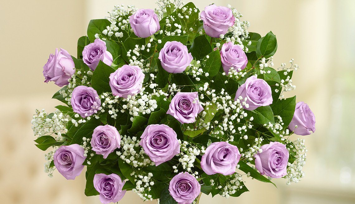 1800 flowers Purple Roses