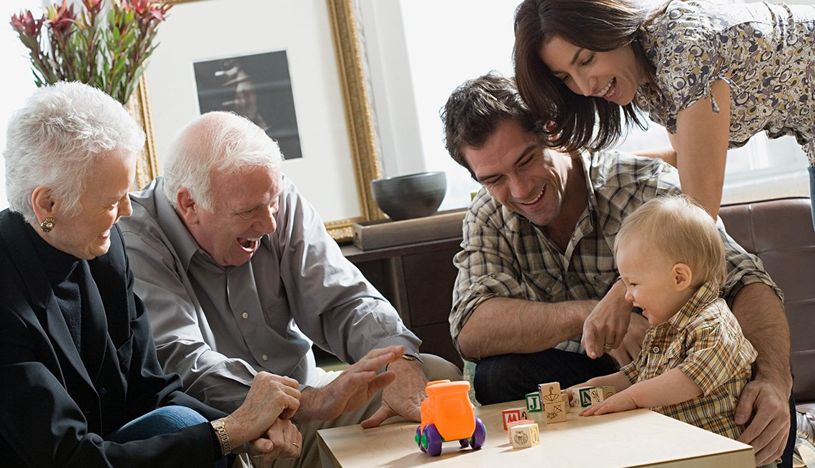 Little boy with parents and grandparents, Life Insurance