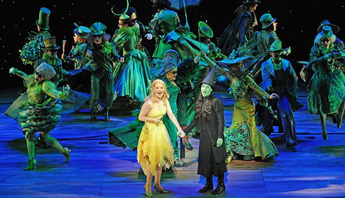 Wicked on stage