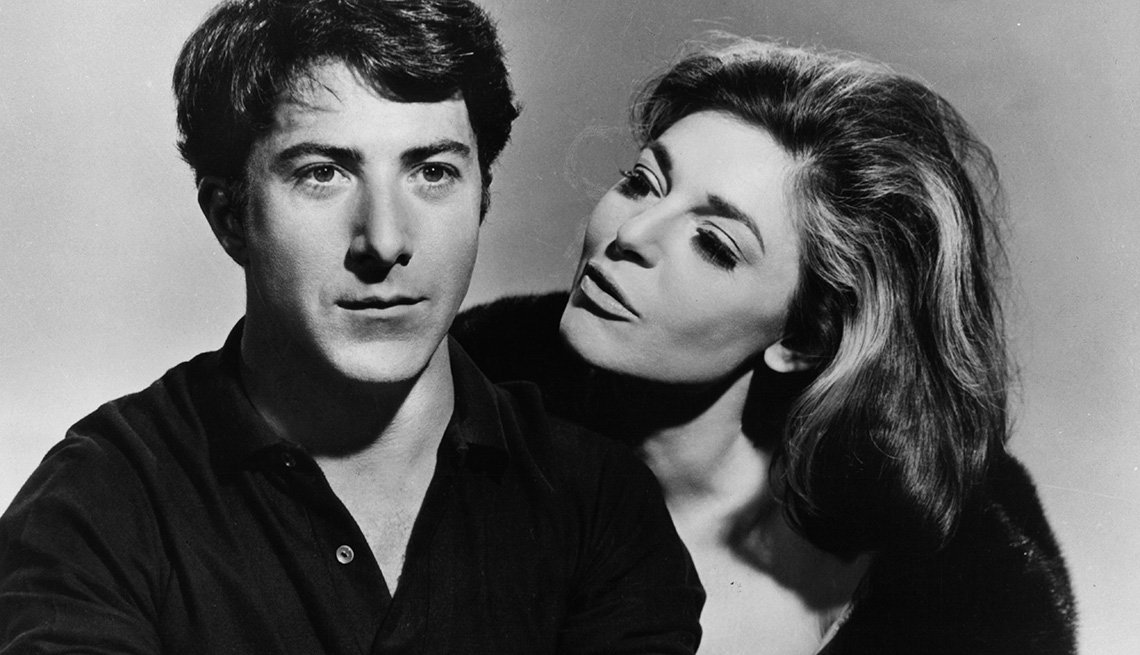 Dustin Hoffman and Anne Bancroft in 'The Graduate'