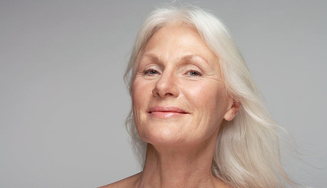 Mature woman, smiling, Jo Ann Jenkins column, Distrupt Aging, AARP