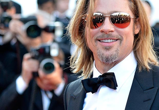 brad pitt career birthday kids children highlights photos slideshow high school dallas thelma louise river runs through it legends fall vampire kalifornia people magazine paltrow monkeys tibet joe black aniston wedding snatch fight club oceans 12 13 troy mr mrs smith jolie benjamin button inglorious mastectomy basterds tree life money ball katrina volunteer charity humanitarian aid architecture years slave world war z (For Picture/Corbis)