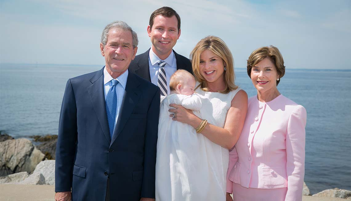 Laura Bush, George W. Bush, Family, Look Who's A Grandma