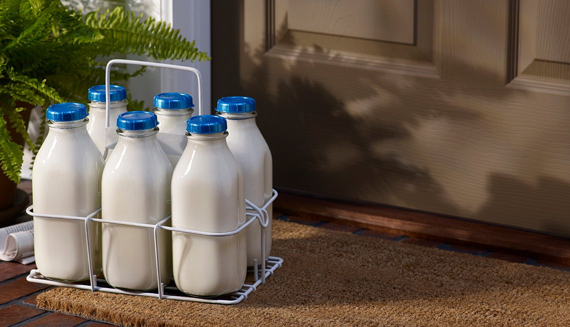 You Know You're a Boomer if, milk bottles doorstep delivery