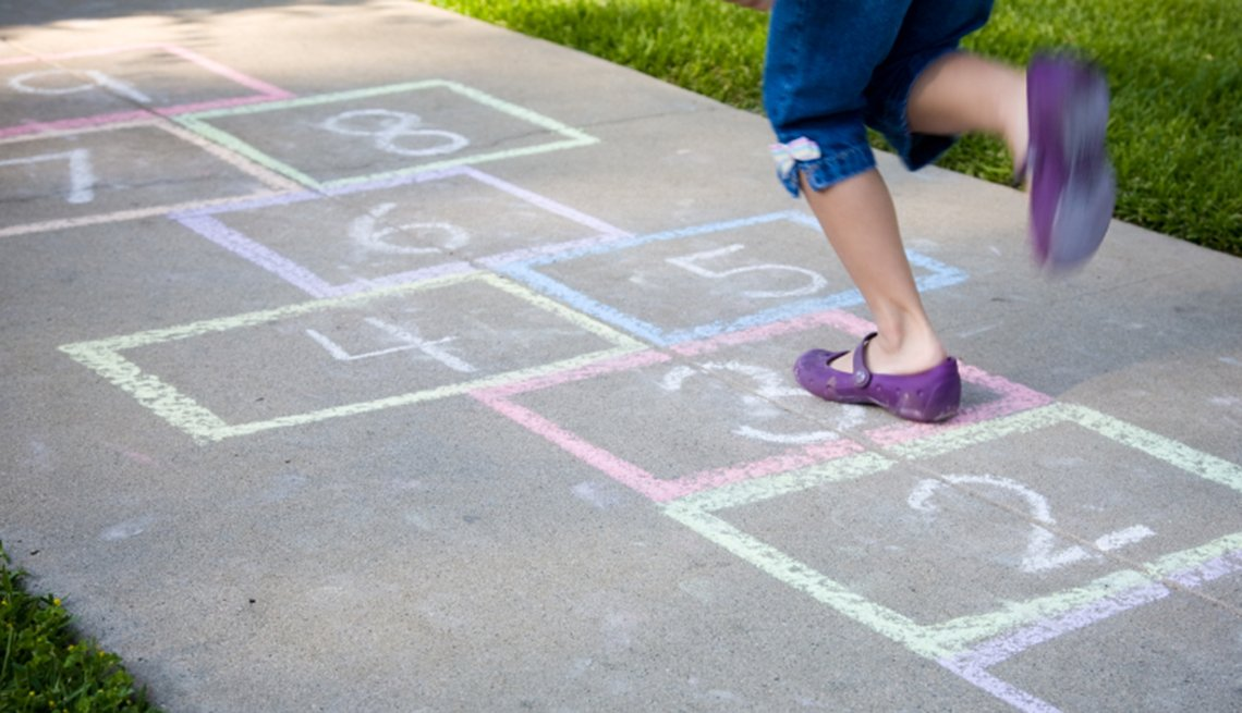 You Know You're a Boomer if, sidewalk games, hopscotch