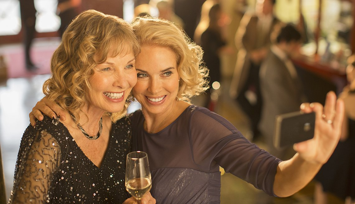 Two Blonde Women, Restaurant, Smiling, Look Younger
