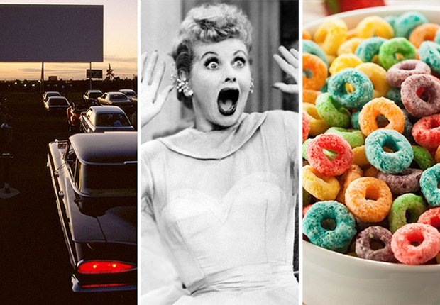 Drive-in movie, Lucy Ball, Cereal, Slideshow: You Know You're a Boomer