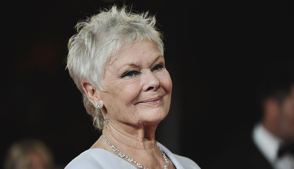 Actress, Judi Dench, Celebrity Grey Hairstyles