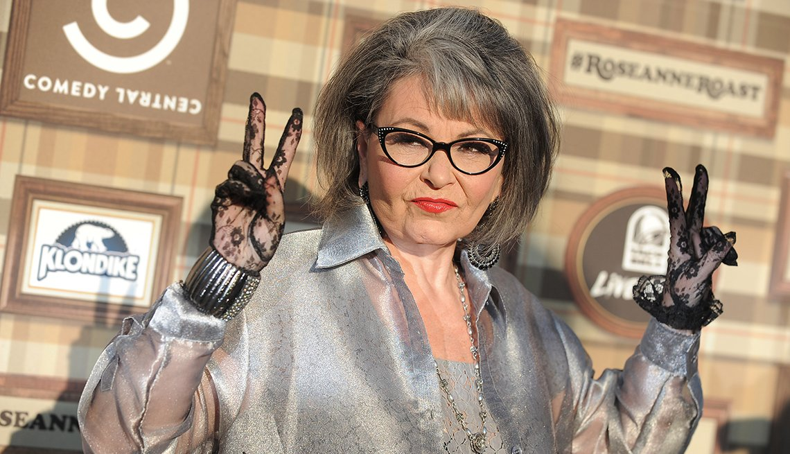 Actress, Comedien, Roseanne Barr, Celebrity Grey Hairstyles