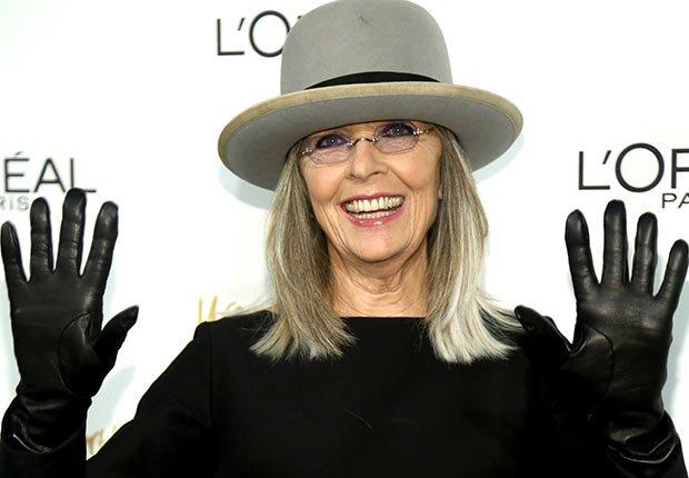 Diane Keaton, Celebrities Who Rock Gray Hair