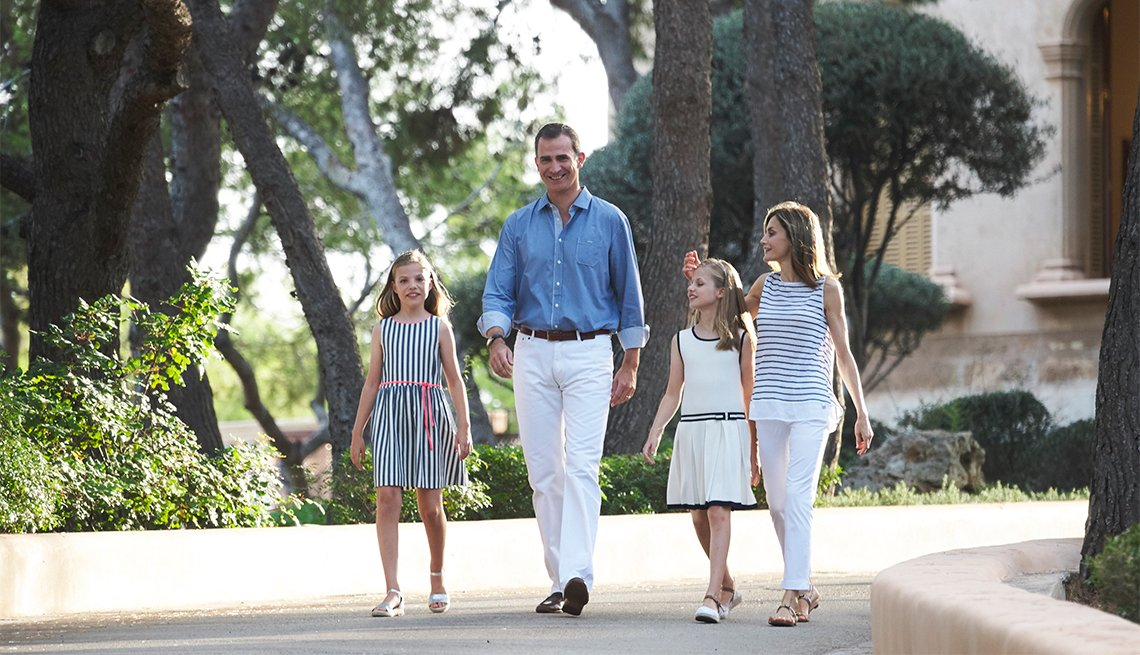 King Felipe VI of Spain, Queen Letizia, Princess Lenor and Princess Sofia