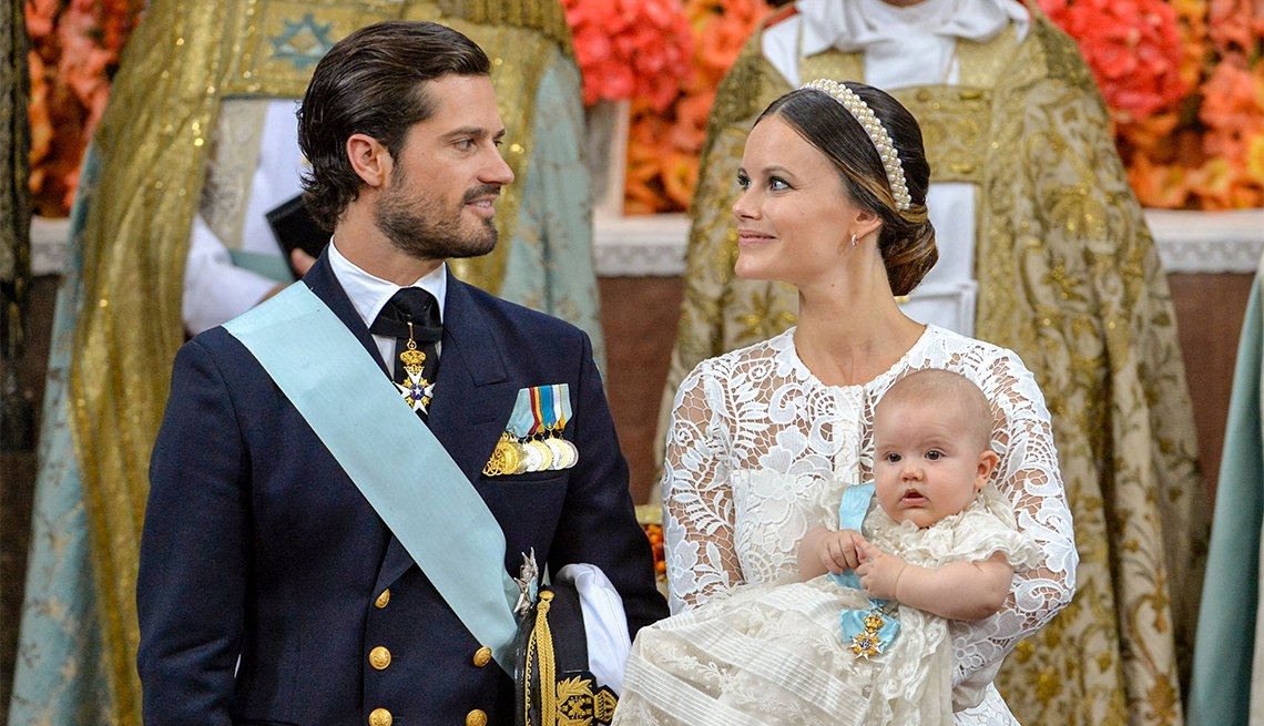 Prince Carl Philip of Sweden and Princess Sofia with Prince Alexander