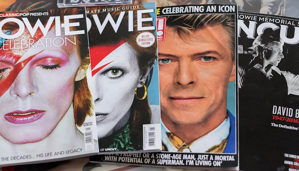 The many faces of David Bowie