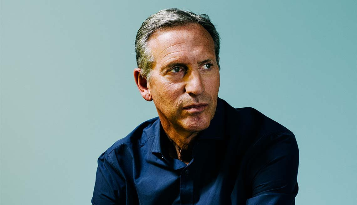 Howard Schultz, 62, CEO of Starbucks