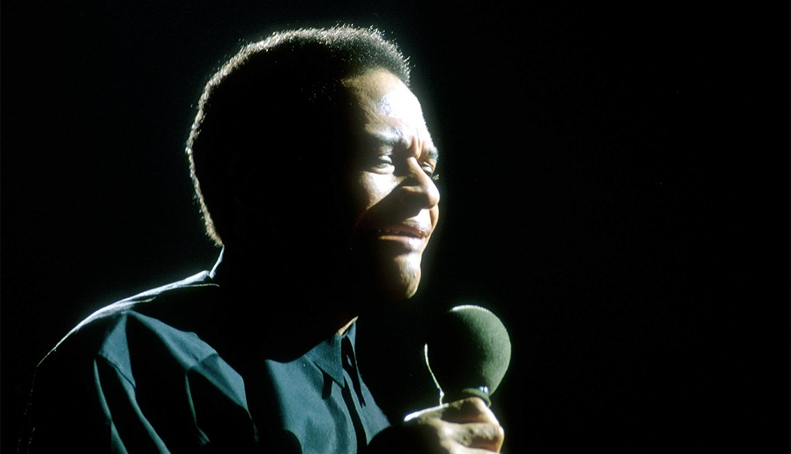 Undated image of Al Jarreau performing in Italy