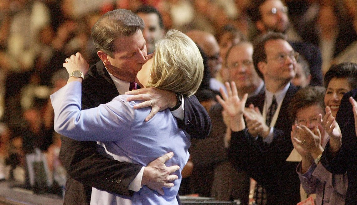Al and Tipper Gore at the Democratic National Convention