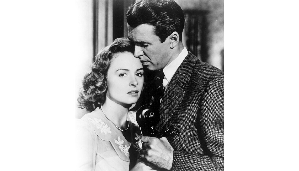 Jimmy Stewart and Donna Reed from 'It's a Wonderful Life'