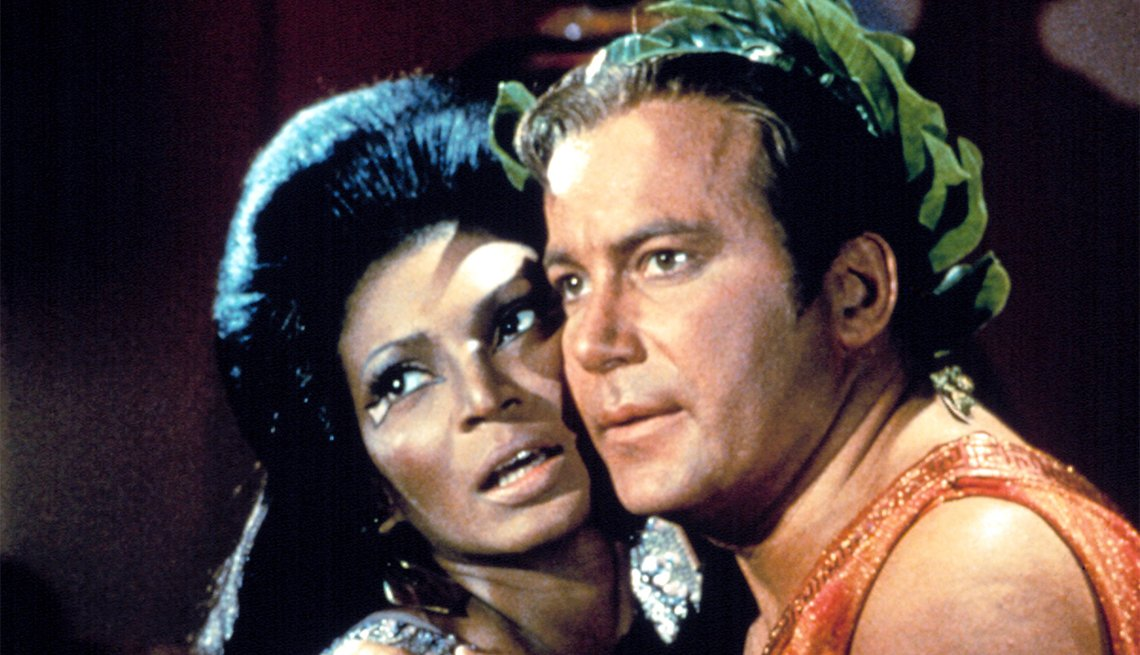 William Shatner and Nichelle Nichols from 'Star Trek'