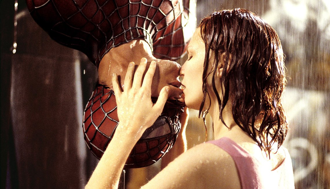Tobey Maguire and Kirsten Dunst from 'Spiderman'