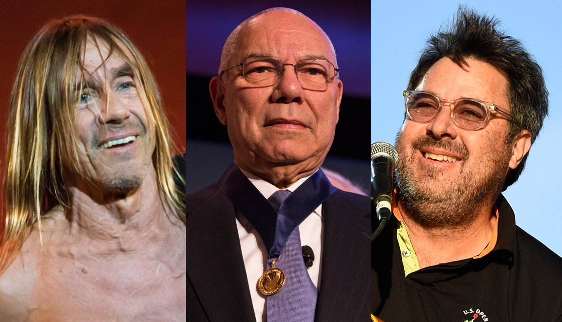 Iggy Pop, Colin Powell and Vince Gill