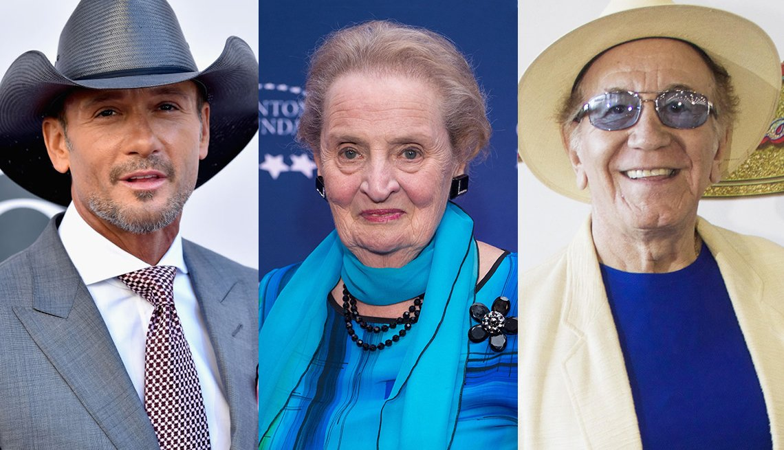 Tim McGraw, Madeline Albright and Trini Lopez all celebrate milestone birthdays in May