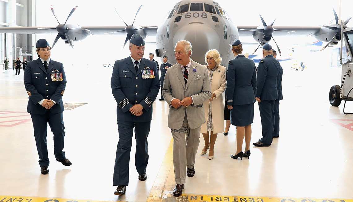 Prince Charles, Prince of Wales visits CFB Trenton on official visit to Canada