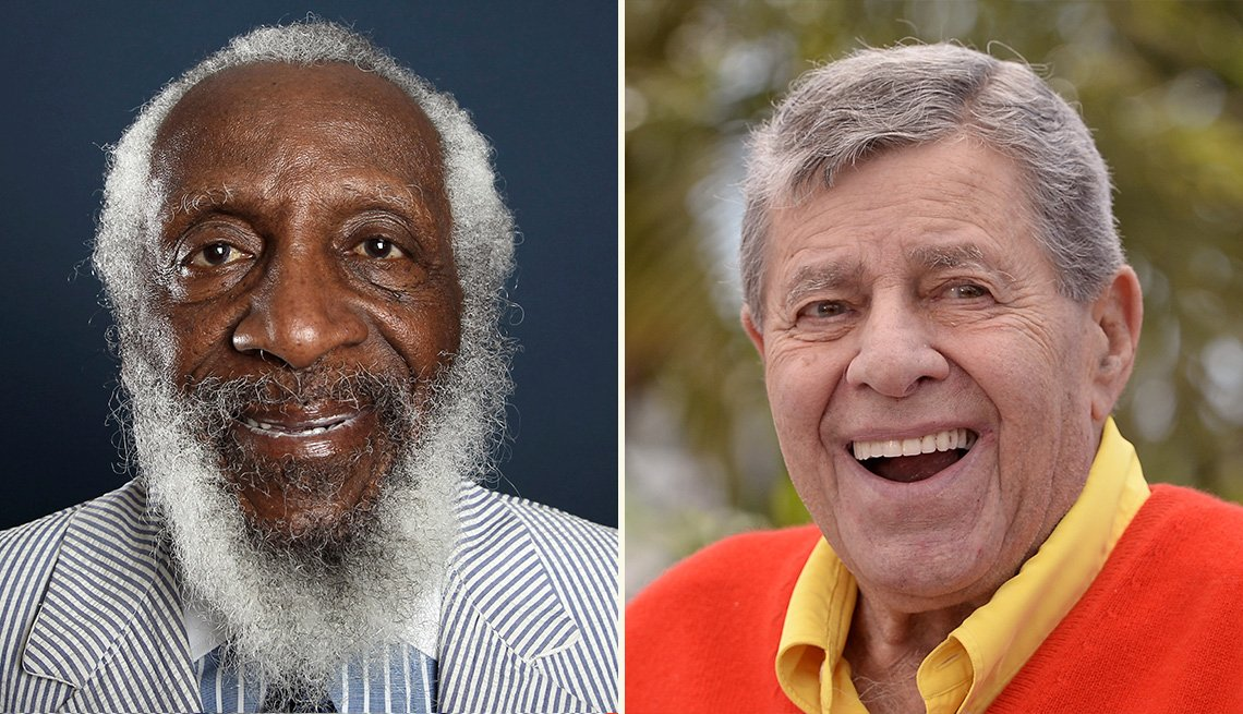 Dick Gregory and Jerry Lewis