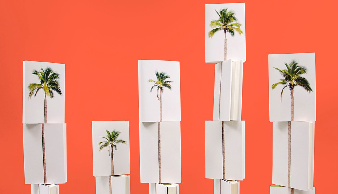 Palm Trees on Book Covers, Summer Books AARP