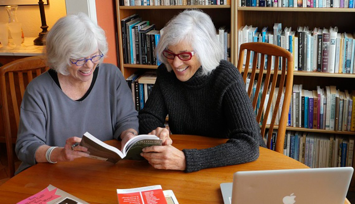 Nan Fink Gefen and Sandra Butler, authors of 'It Never Ends: Mothering Middle-aged Daughters'