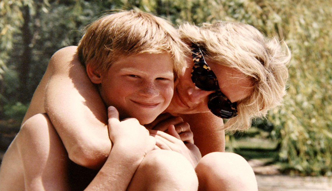 Princess Diana and Prince Harry on holiday
