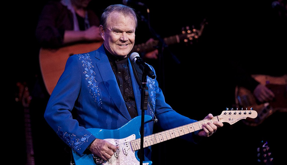 Glen Campbell performs at Town Hall in New York during his 'Goodbye Tour' in 2012.