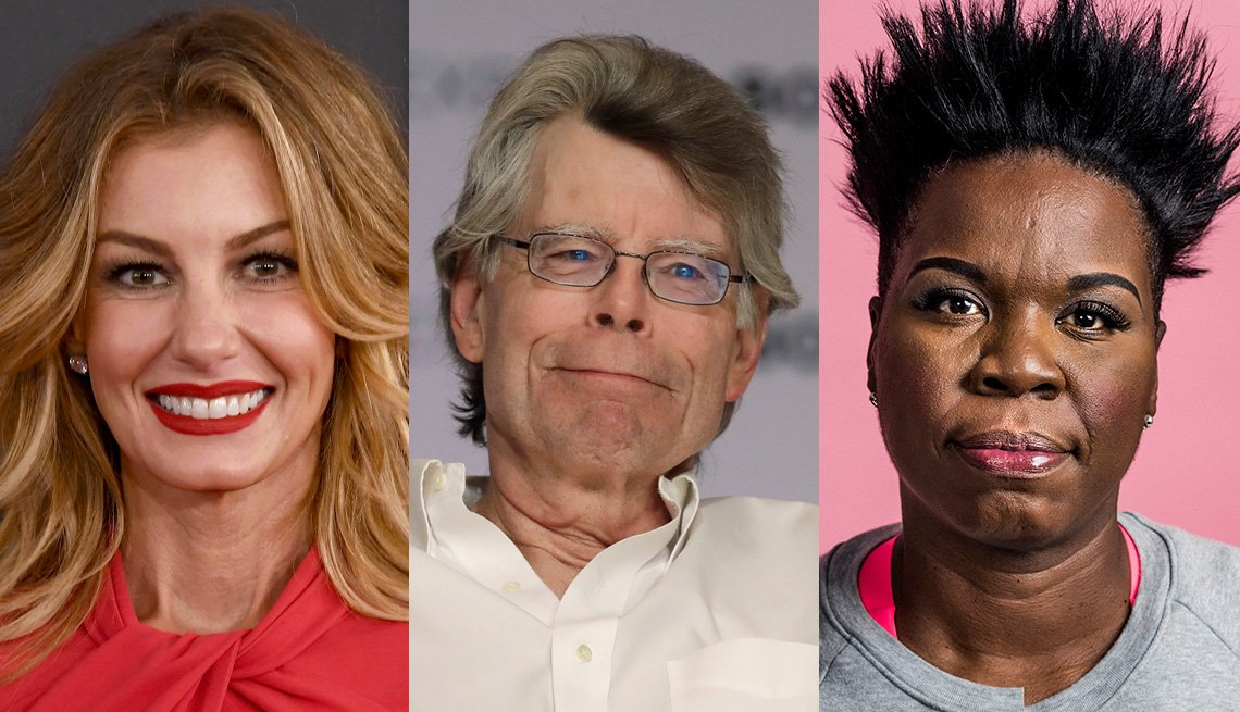 Faith Hill, Stephen King and Leslie Jones