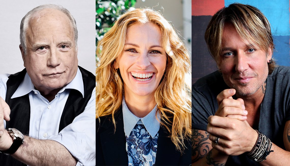 Richard Dreyfuss, Julia Roberts and Keith Urban