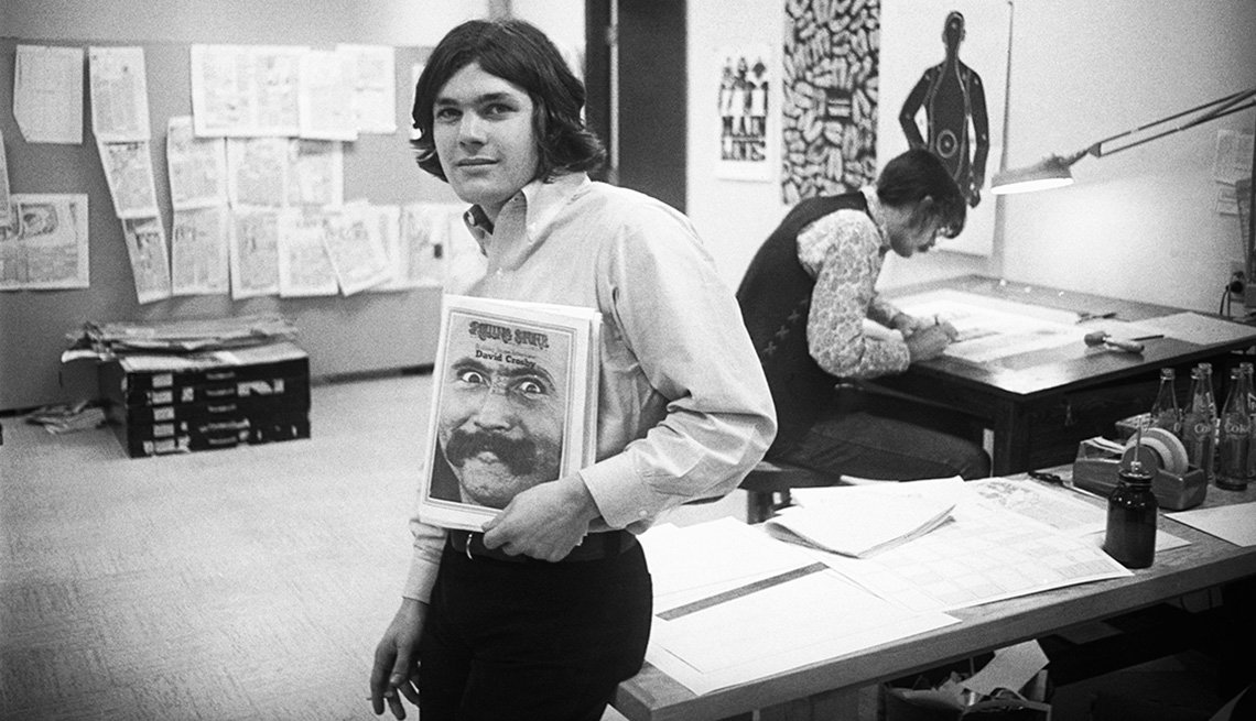 Jann Wenner at Rolling Stone in 1970