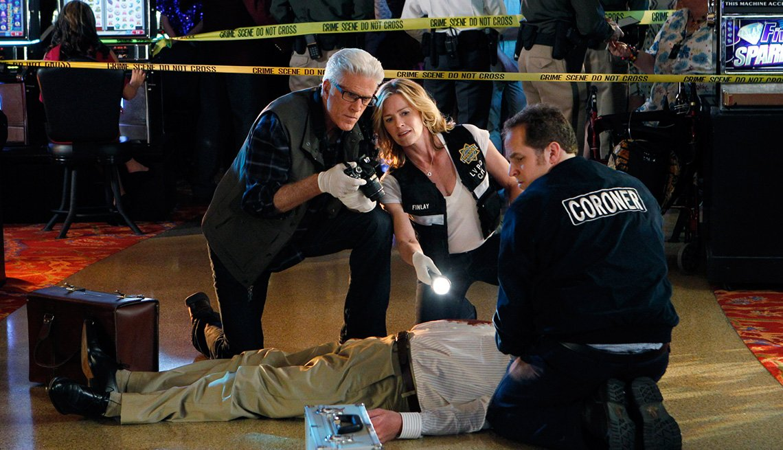 Ted Danson and Elisabeth Shue on CSI: Crime Scene Investigation