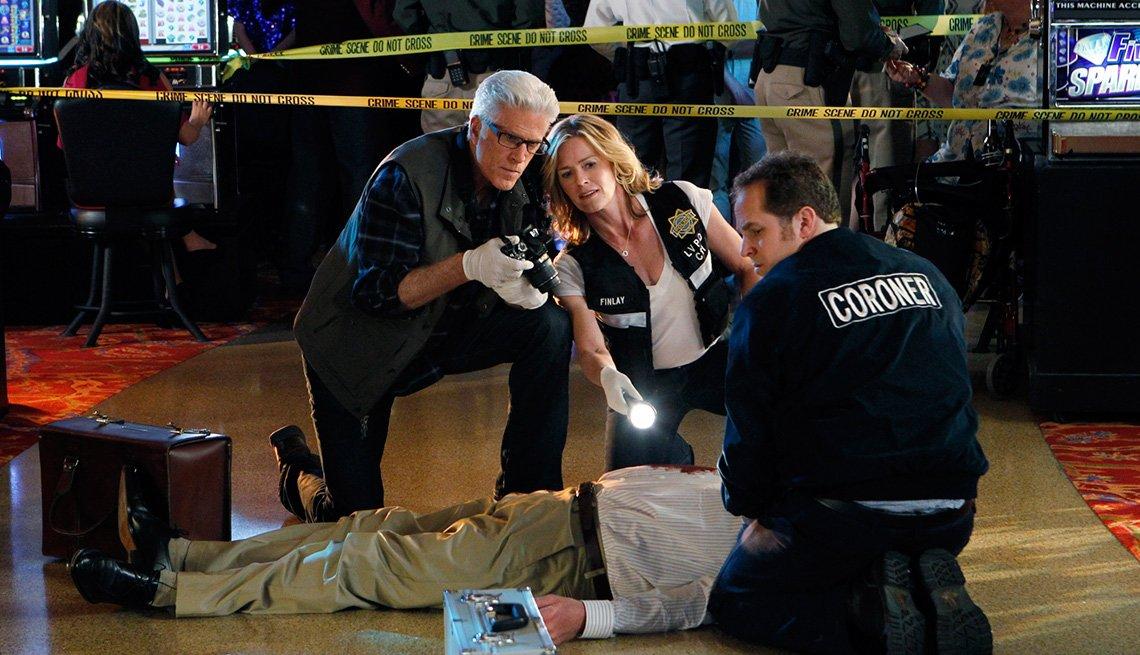 Ted Danson and Elisabeth Shue on CSI: Crime Scene Investigation