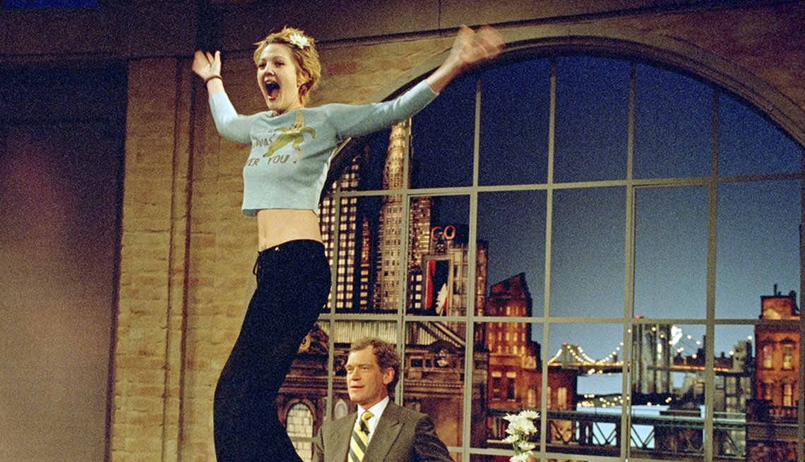 Drew Barrymore on the Late Show with David Letterman in 1995