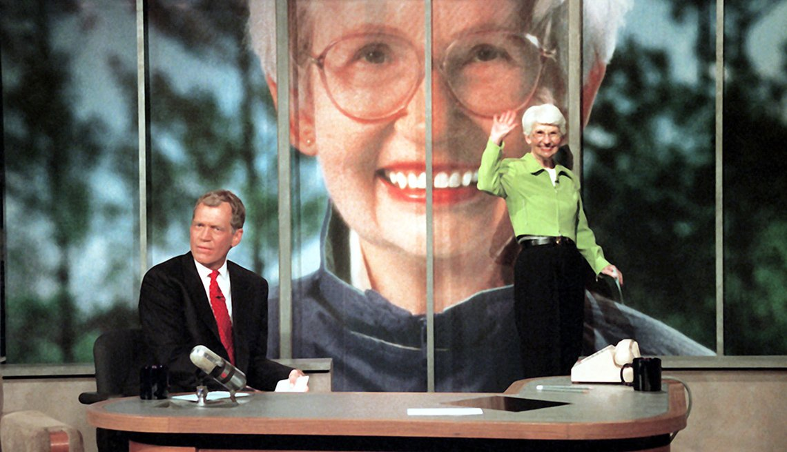 Dorothy Mengering on the Late Show with David Letterman in 1997